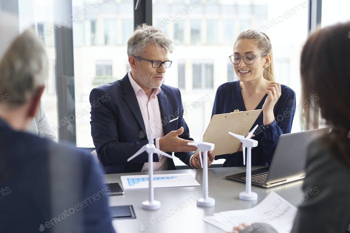 Business people during business meeting