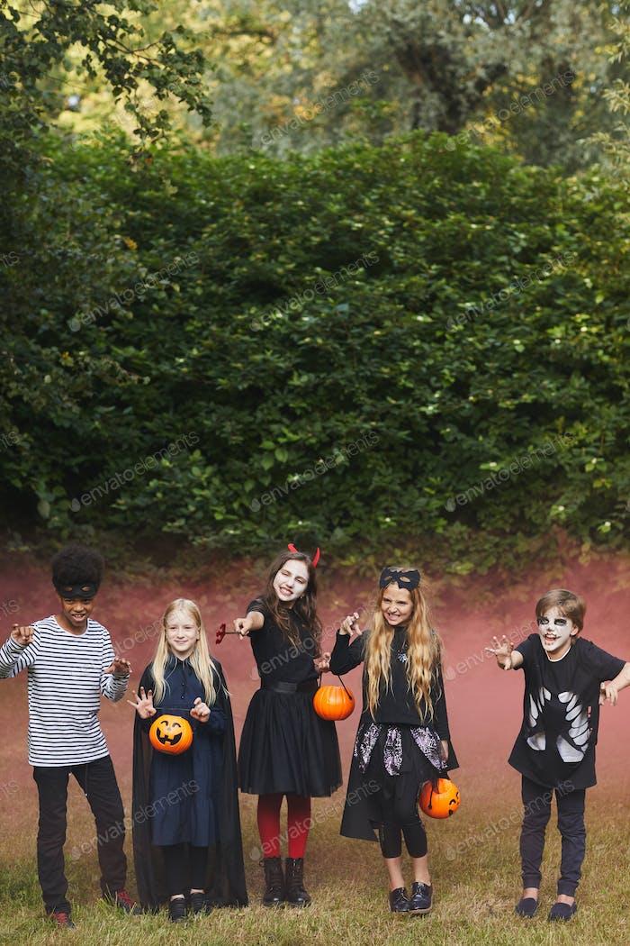 Spooky Kids on Halloween