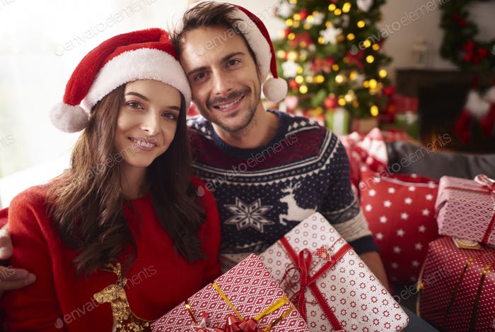Christmas time with loving person