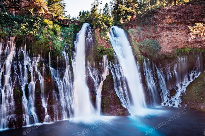 McArthur-Burney falls in Shasta National Forest, north California; long exposure
