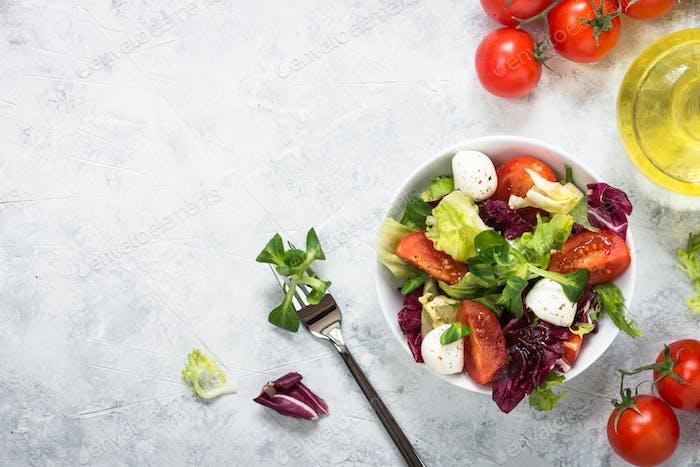Fresh salad in a bowl.