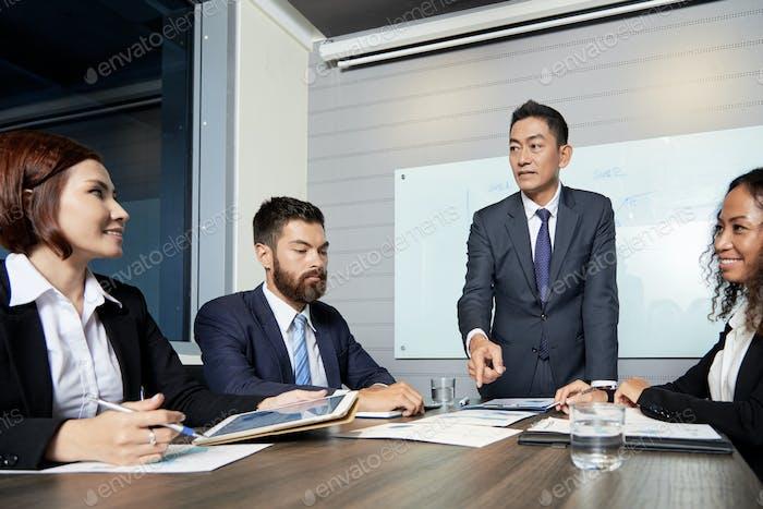 Professional businesspeople having meeting