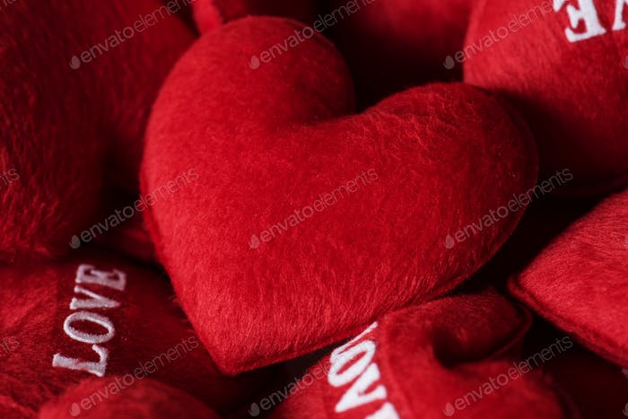 Collection of love hearts