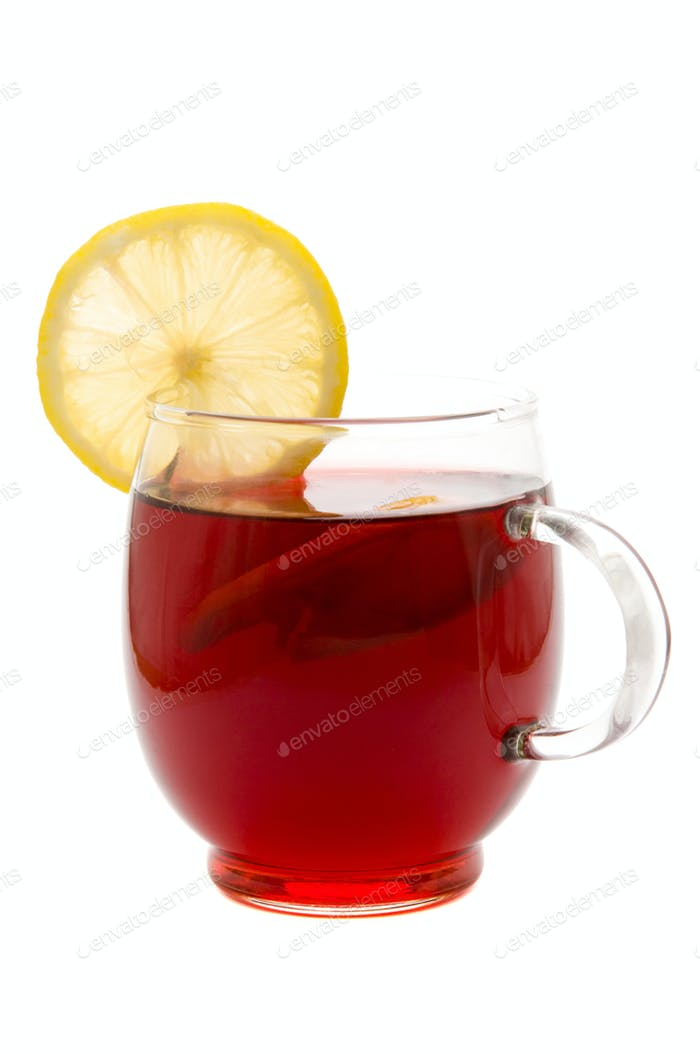 tea cup and lemon