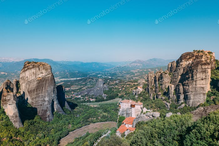 Meteora monasteries, Greece. The Monastery of Rousanou or St. Ba