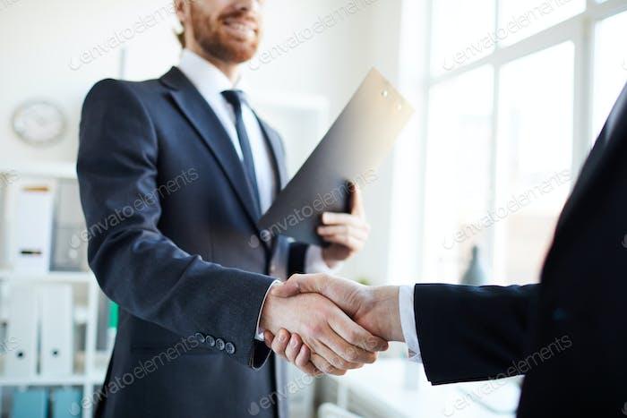 Gesture of partnership