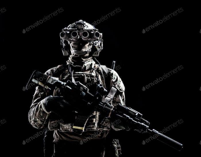 Ejército fuerzas especiales tirador tiro Estudio Llave baja