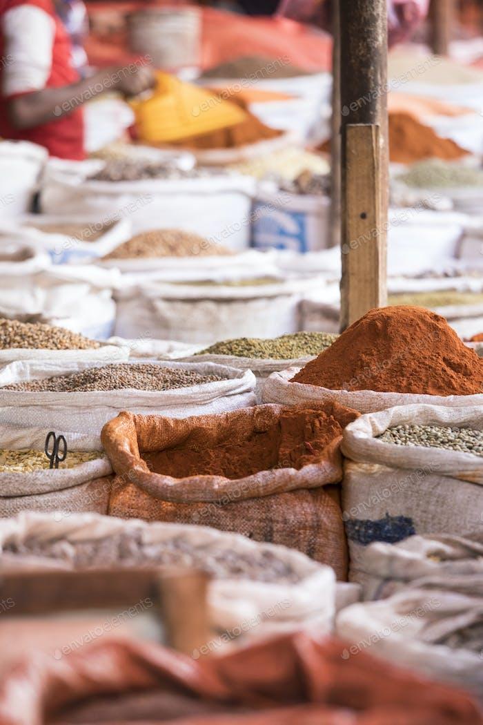 Spice market in Harar, Ethiopia