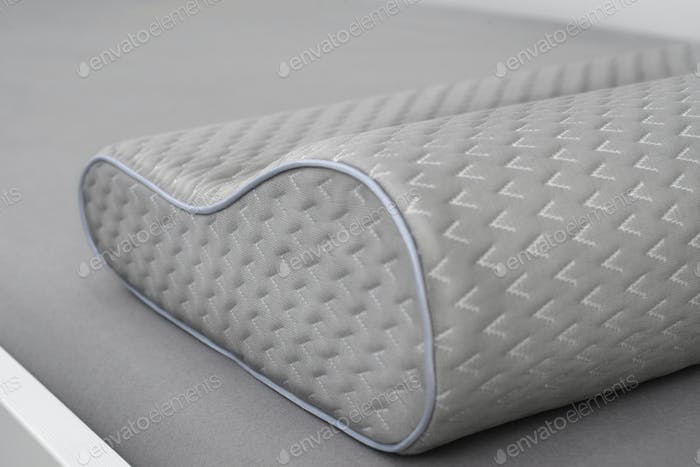 Gray orthopedic pillow