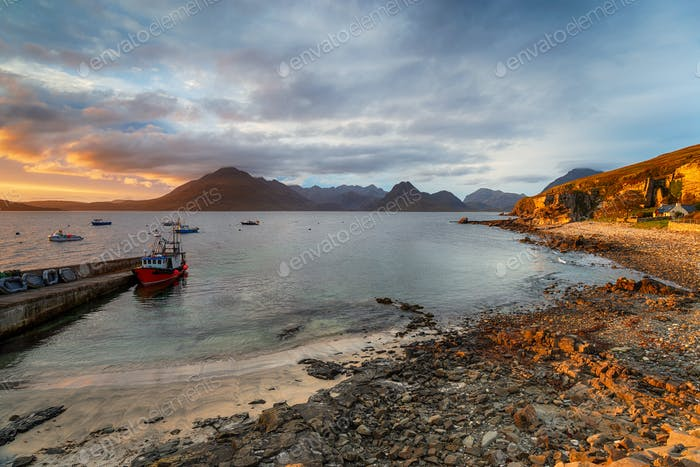 The harbour at Elgol