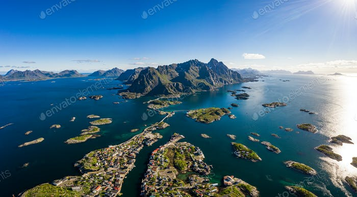 Henningsvaer Lofoten is an archipelago in the county of Nordland