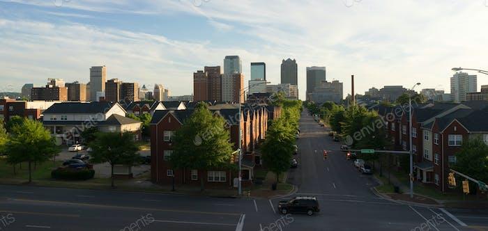 Sunset Downtown City Skyline Birmingham Alabama Carraway