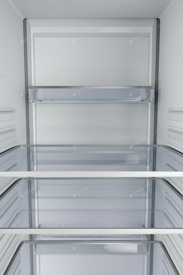 Inside of an empty fridge