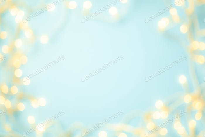 abstract blue Bokeh circles for Christmas background