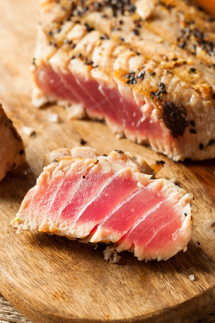 Homemade Grilled Sesame Tuna Steak
