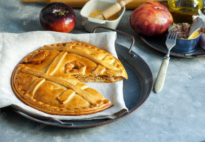 empanada de atun gallega is a type of baked Latin America and Spain, Galicia