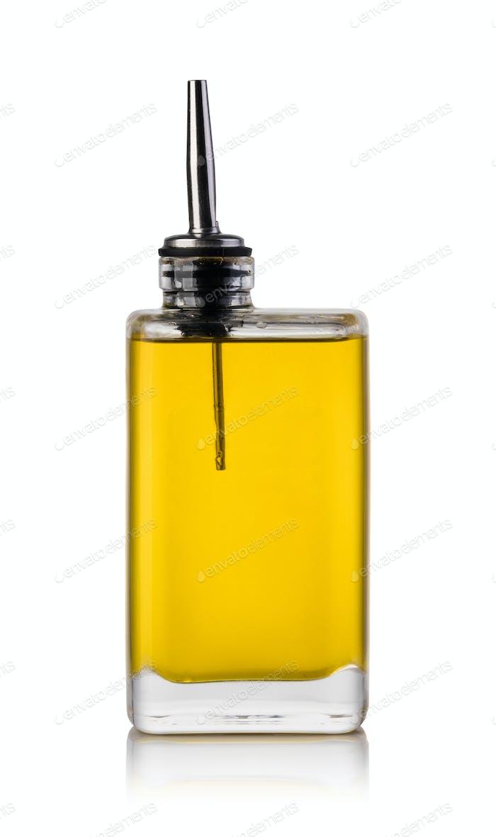 Olive oil in a bottle