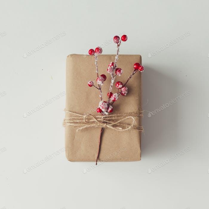 DIY gift wrapping idea. concept.