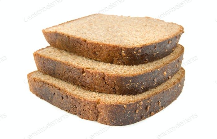 Three slices of bread