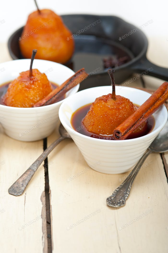 poached pears delicious home made recipe