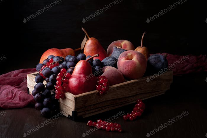 Fresh organic fruits. Healthy seasonal food concept