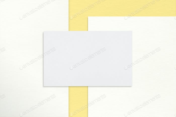 Business card, realistic professional design