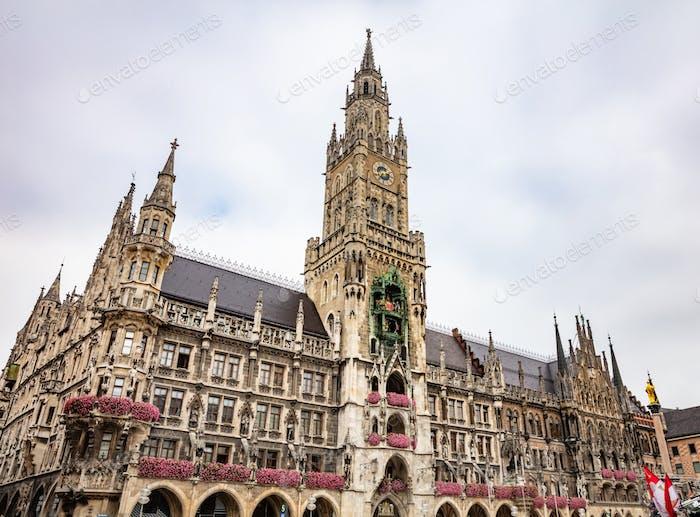 Munich, Germany. Marienplatz square