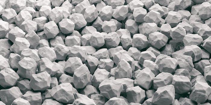 White marble stones background. 3d illustration