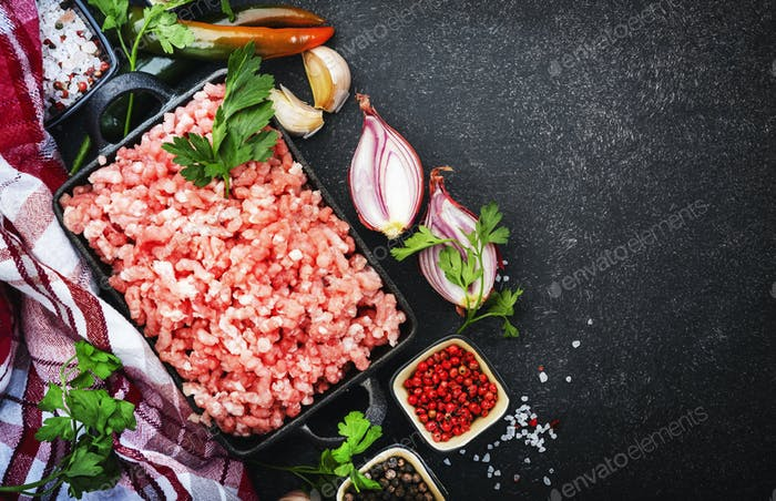 Mince, ground minced meat