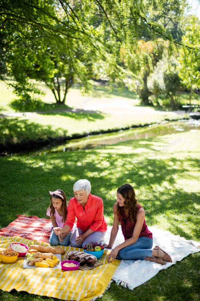 Happy family enjoying in park