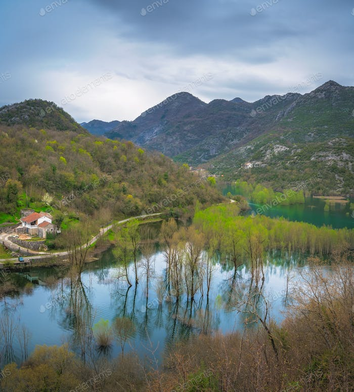 Skadar Lake National Park landscape