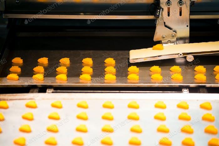Produktions-Cookie in der Fabrik