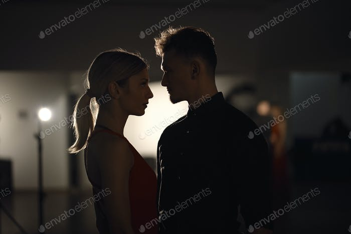 Dancing couple portrait