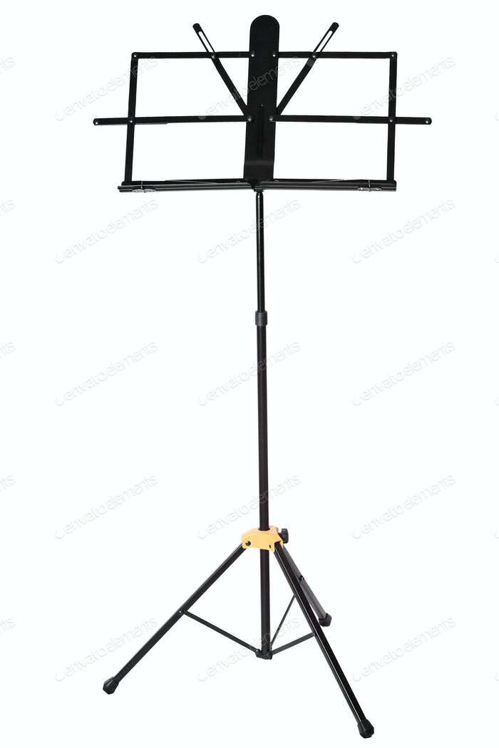 Empty music stand isolated