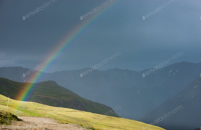 Rainbow over the Cinnamon Pass Colorado
