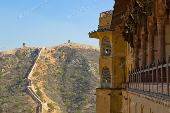 Amber Fort and Wall