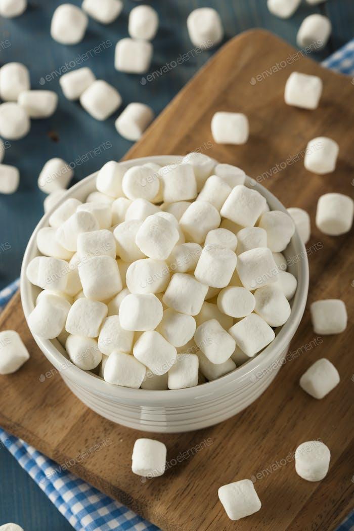 White Mini Marshmallows in a Bowl