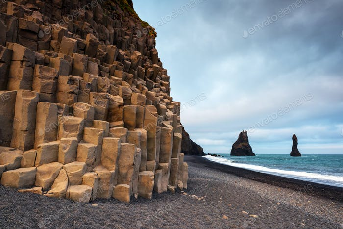 "Basalt rock formations ""Troll toes"""