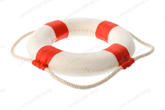White-red lifebuoy