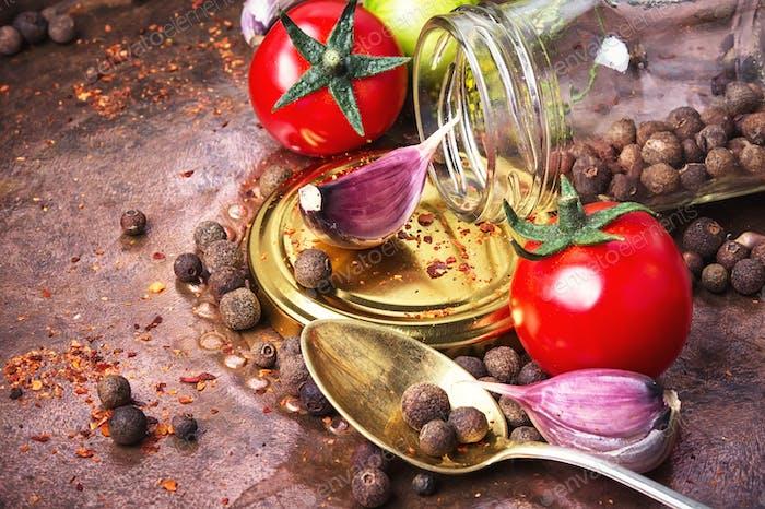 Homemade pickle tomato