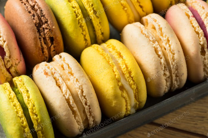 Colorful Homemade Sweet French Macarons