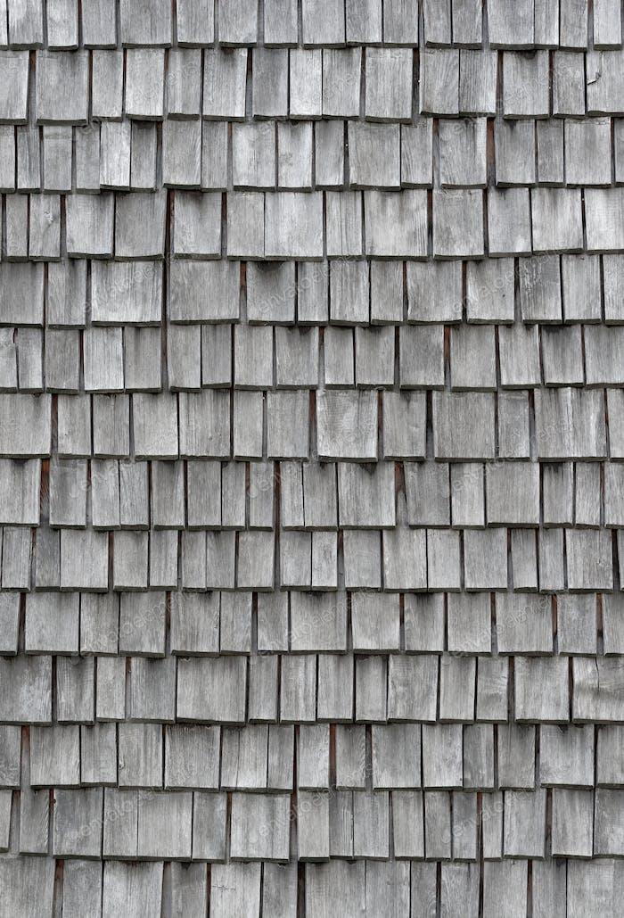 Alte verwitterte Holzschindeln