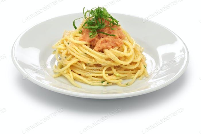 mentaiko (spicy pollock roe) pasta, japanese food