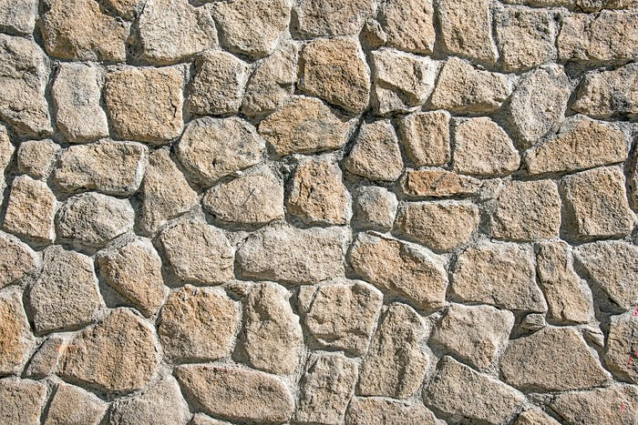 Rough wall made of natural stone