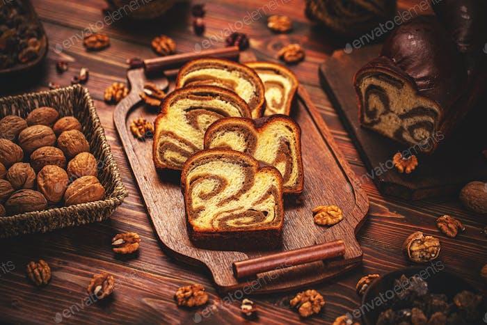 Sweet bread cake loaf