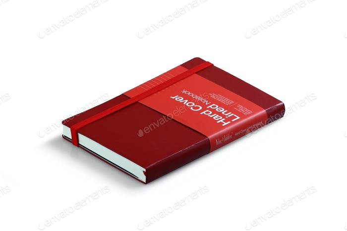 Red Notebook Isolated