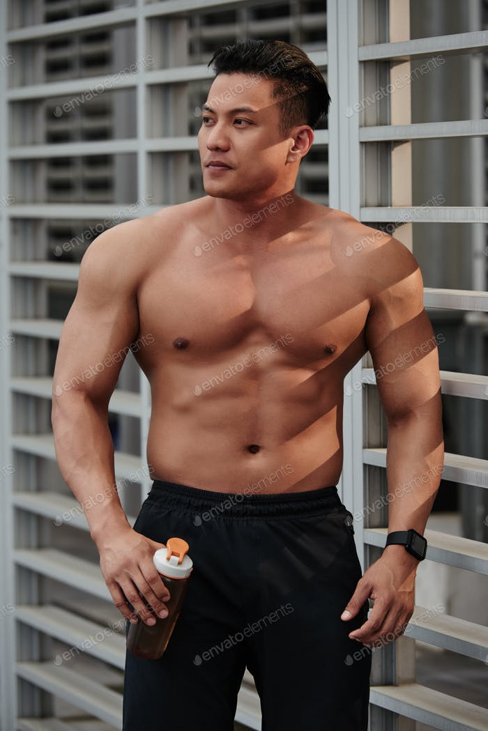 Attractive bodybuilder