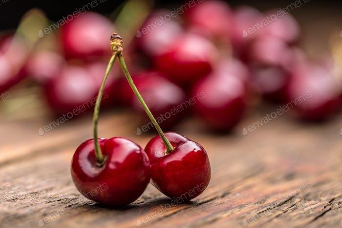 Sour cherry berries
