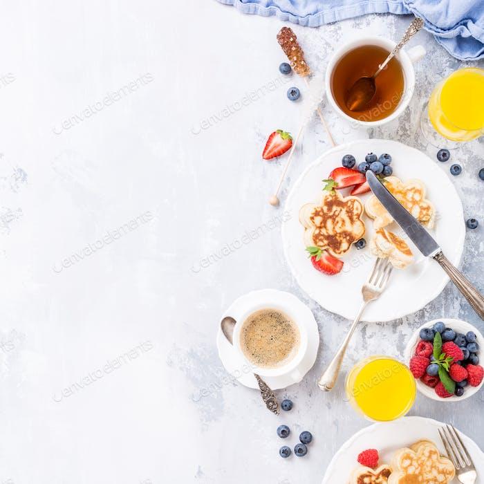 Frühstück mit Scotch Pfannkuchen