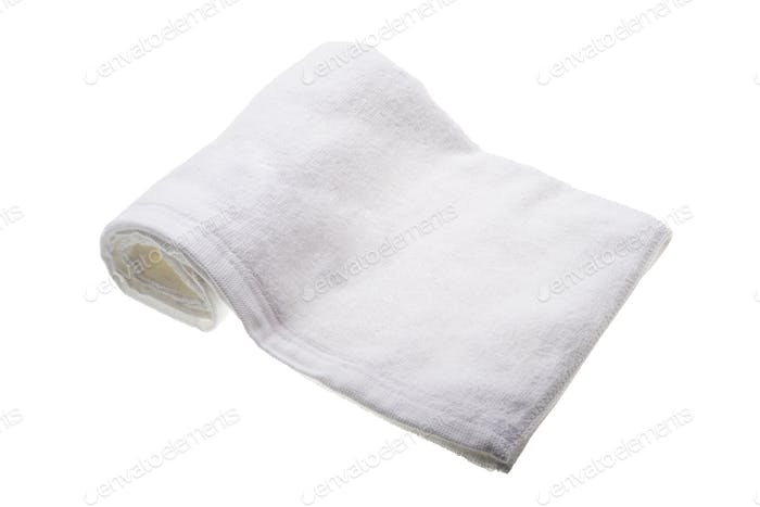 white soft hand towel